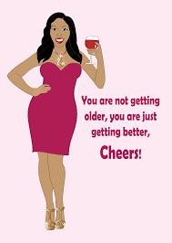birthday greeting card for women beautiful black woman wearing a