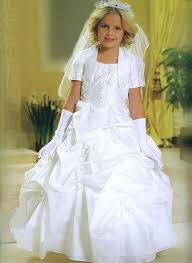 beaded corset pickup first holy communion gown mb803
