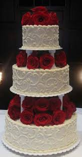 wedding cake layer 3 tier wedding cake with roses add a black ribbon to the base