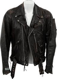 blue motorbike jacket terminator u0027s biker jacket up for auction visordown