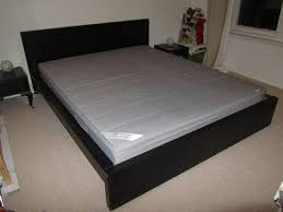 kingsize bed ikea originally pine but painted black good