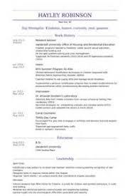 resume cv cover letter resident assistant resumeresident
