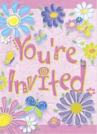 birthday flowers party invitations in packs of 8 party wizard