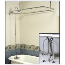 Shower Faucet For Clawfoot Tub Complete Chrome Add On Shower Combo Set For Clawfoot Tub Faucet