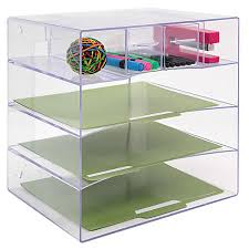 Office Depot Desk Organizer Innovative Storage Designs Desktop Organizer 6 Compartments Clear