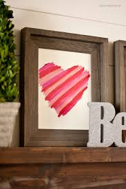 Ideas For Homemade Valentine Decorations by Easy Valentines Day Decor Diy Lipstick Art I Heart Nap Time