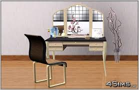 Makeup Vanity Modern Makeup Vanity Plus Curved Chair For Sims 3 4sims