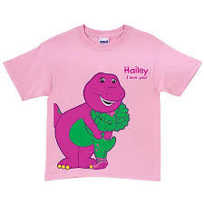 personalized barney baby bop pink toddler t shirt walmart