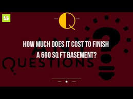 Average Basement Finishing Cost by How Much Does It Cost To Finish A 600 Sq Ft Basement Youtube