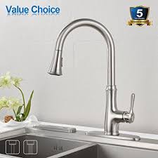 brushed nickel faucet with stainless steel sink kitchen faucet pull down sprayer wewe a1008l stainless steel sink