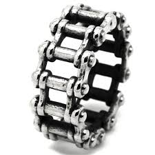steel chain rings images Oxidised stainless steel bike chain ring stainless steel rings jpg