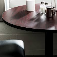 lancaster table and seating table seating 30 laminated round table top reversible cherry black
