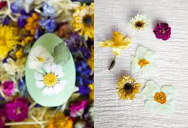 Easter Egg Decorating At Home by How To Pressed Flower Easter Eggs The Blog At Terrain