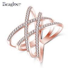 aliexpress buy beagloer new arrival ring gold beagloer 2016 new fashion rings cross x shape ring gold