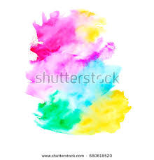 bright blue watercolor painted vector stains stock vector