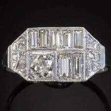 platinum diamonds art deco engagement ring description by adin
