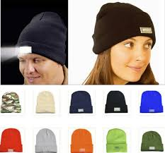 knit hat with led lights led lighting knitted hats women men cing cap travel hiking