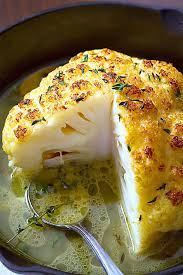 whole roasted cauliflower with butter sauce easy cauliflower