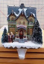 christmas houses lighted house holder santa workshop tree kid