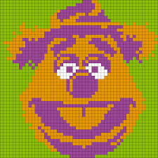 hama bead letter templates fozzie bear from the muppets square perler bead pattern bead fozzie bear from the muppets square perler bead pattern bead sprite