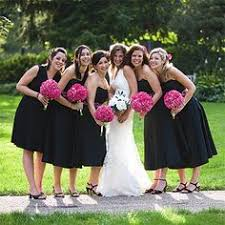 Pink And Black Bridesmaid Dresses Pink Bridesmaids Dresses And Black Tuxes Wedding From