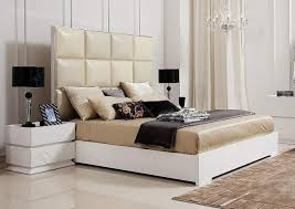 bedroom elegant glossy wooden headboard matches along with