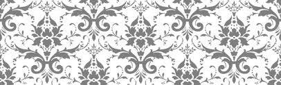 gray and white damask clipart