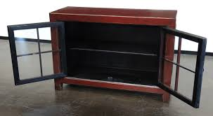 small cabinet with glass doors medium red cabinet with glass doors buffets media cabinets