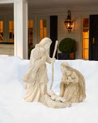 Nativity Outdoor Decorations Outdoor Nativity Set Balsam Hill