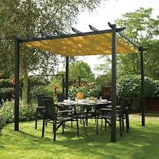 Free Standing Awning Outdoor Garden Canopy Aluminum Free Standing Retractable Awning