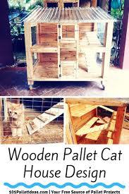 wooden pallet cat house design jpg