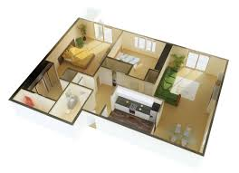 simple home plans 2 bedrooms 3d