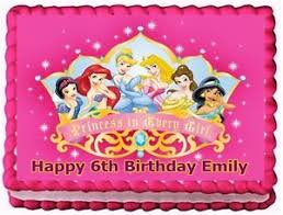 edible cake decorations disney princess edible cake topper birthday decorations ebay