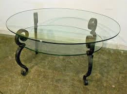 Glass Oval Coffee Table by Oval Glass Coffee Table Shop Hodedah Import Hict19 Oval Glass
