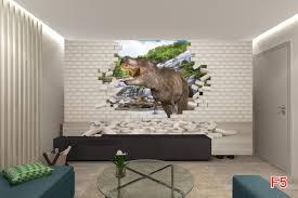 mural 3d effect brick wall and dinosaur wall mural 3d effect brick wall and dinosaur