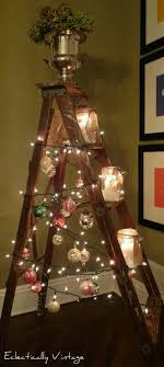 ladder christmas tree pin by carol woods on eye catching shabby chic booth displays