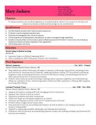 Clinical Resume Examples by 16 Free Medical Assistant Resume Templates
