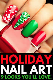 holiday nail art 9 holiday nails to get you in the spirit