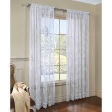 Drapery Shops Lyric Rod Pocket Sheer Curtain Panel Walmart Com