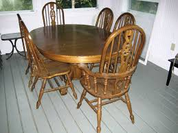 Breakfast Table And Chair  Adocumparonecom - Oak dining room sets with hutch