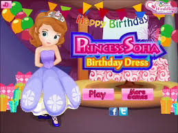 sofia princess sofia birthday dress dress game