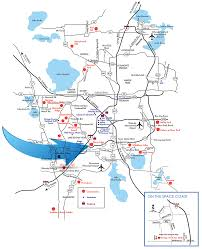Orlando Attractions Map by Storey Lake Attractions And Nearby Communities