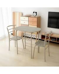Kitchen Bistro Table And 2 Chairs Spectacular Deal On Ikayaa Modern Metal Frame 3pcs Breakfast