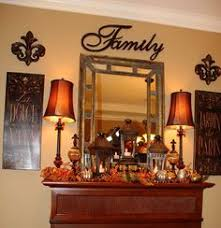 Mirror Over Buffet by Classic Timeless Traditional Decorate For The Fall Winter