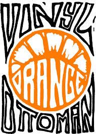 Vinyl Orange Ottoman Vinyl Orange Ottoman Abilene Bar Lounge