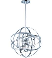 Sputnik Ceiling Light Maxim 25130pc Sputnik 6 Light 19 Inch Polished Chrome Single