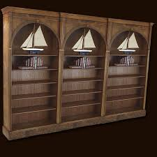 burr walnut arched combination bookcases