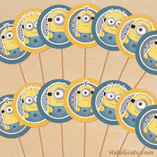 minions cake toppers free printable despicable me minions cupcake toppers could also