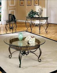 coffee table and stool set three piece coffee table set round glass top metal coffee table