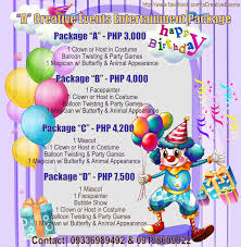 clown magician party host affordable entertainment packages in davao city athena miel s